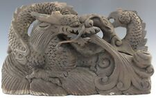 Vintage Chinese Export Carved Wood Air Dragon Sculpture