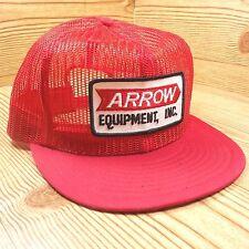 Vintage Arrow Equipment INC Trucker Snapback Men's Hat Red Patch Mesh Cap
