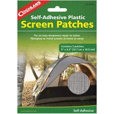 """Coghlan's Parches De Pantalla Auto-Adhesivo Plástico (3 Pack), 5"""" X 6.5"""", Kit De Reparación"""