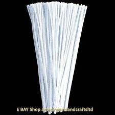 Amazing Arts and Crafts White Pipe Cleaners Chenille Stems 30cm x 4mm, 50pcs