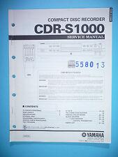 Service Manual-Anleitung für Yamaha CDR-S1000,ORIGINAL