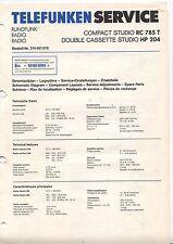 Telefunken Service Anleitung Manual Radio Compact Studio RC 785 T HP 204 B482
