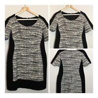 Ladies Pepperberry by Bravissimo Black Shift Dress Short Sleeve Size 14 Really C
