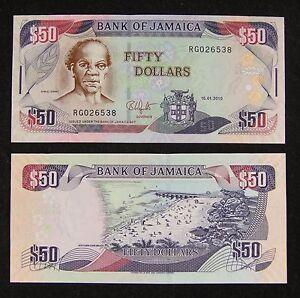 Jamaica Banknote 50 Dollars 2010 UNC