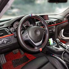 38CM Auto Lenkräder Abdeckung Carbon Faser Blick PU Leder Schwarz f��r alle BMW
