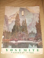 VERY RARE 1932 Yosemite National Park Tourist 31 Photo Book Maps Ads Sunkist CA