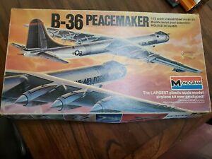 Vintage MONOGRAM B-36 Peacemaker 1/72 Plastic Model Kit #5703