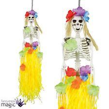 Halloween Party Hanging Hawaiian Lei Hula Human Skeleton Decoration Prop 90cm