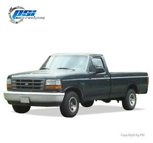 Black Paintable Rugged Style Fender Flares 92-96 Ford F-150 F-250 F-350 Bronco