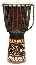 60 Cm Profi Djembe Bongo Tribal Afrika Style Carving Trommel