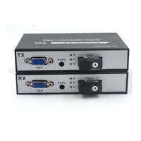 VGA Extenders 1080P VGA over Fiber optic up 20Km singlemode Transmitter Receiver