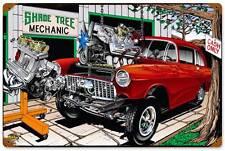 Hot Rod Drag Race Car Tree Mechanic Metal Sign Man Cave Garage Shop Club SLP030