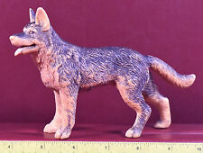 German Shepard Dog Figure Rubber Toy Vintage