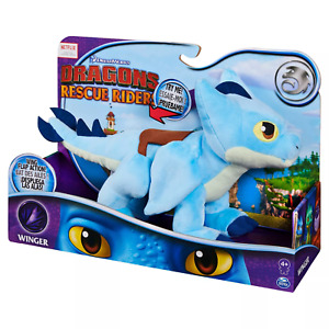 """Netflix How To Train Your Dragons Rescue Riders Plush Winger 15"""" In Deluxe"""