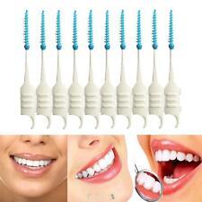 200pcs Double Floss Head Hygiene Dental Plastic Interdental Brush Toothpick