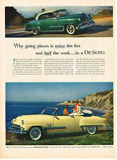 Vintage 1953 Magazine Ad DeSoto Car Why Going Places & Western Electric