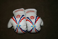 ASSYRIA / ASSYRIAN FLAG Mini Boxing Gloves ORNAMENT *NEW*