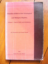 Checklist of Birds of the Afrotropical and Malagasy Regions, Vol. 1 (pb, 1993)