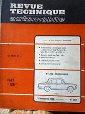 """Revue Technique Automobile  FIAT """"125"""" septembre 1968 n°269"""