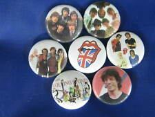 ROLLING STONES COLLECT  7 PINS BUTTONS BADGES NEW WC