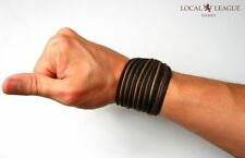 WAVE RIDERS Mens Surfer BRACELET Man Leather Gift Wristband Adjustable Cuff Boys