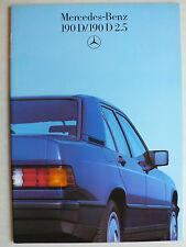 Prospekt Mercedes 190 D,190 D 2.5, 11.1985, 32 Seiten für Österreich