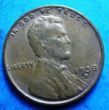 *1934-D* Lincoln Wheat Cent  vg-vf clear date free shipping