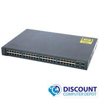 Cisco WS-C3560v2-48PS-S Catalyst 48-Port Gigabit Ethernet Network Switch PoE