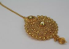 New Kundan Gold Plated Wedding Bridal Ethnic Forehead Maang Tikka Women