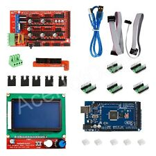 3D Printer Kit RAMPS 1.4+Mega2560+A4988+12864 LCD Controller for Reprap Prusa i3