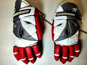 "Warrior RPM 13"" Red Lacrosse Goalie Gloves-GUC"