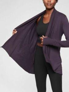 ATHLETA Pranayama Wrap LP Large Petite L P | Purple CYA Sweater Top #293142