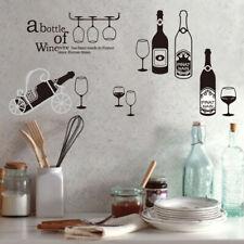 Wine Bottles Bar Kitchen Lovely Removable Wall Sticker Home Decor Art Vinyl DIY