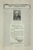 1903 PRINT MR W. P. FRITH HOW HE PAINTED DICKENS ARTICLE