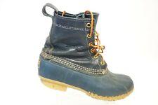 L.L. BEAN Blue Sz 7 M Women Leather/Rubber Blue Winter Duck Boots