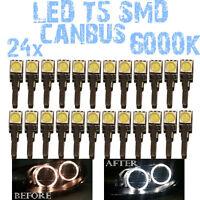 N° 24 LED T5 5000K CANBUS SMD 5630 lampe Angel Eyes DEPO FK 12v BMW X5 E53 1E6 1