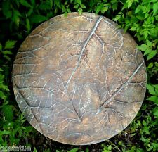 """Leaf stepping stone concrete plaster plastic mold 13"""" x 1.5"""" thick"""