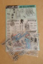 Craft Stamping Paper Craft/Card Making Clear Rubber Stamp Bundle