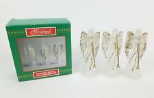 House Of Lloyd Christmas Around The World Frosted Angel Trio Ornaments w/ Box