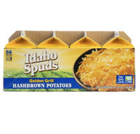Idaho Spuds Real Potato, Gluten Free, Golden Grill Hashbrowns 4.2oz (8 Pack)