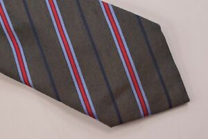 NWT Brioni Neck Tie Red Striped Made in Italy Silk Linen Luxury New $250