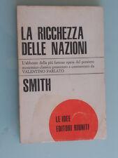 Smith - La ricchezza delle nazioni - Le Idee / Editori Riuniti