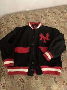 Ny Cuban 1935 Negro Team Varsity Jacket BlkRed Mens Sz 2XX