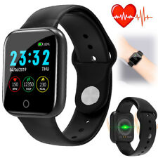 Black Smart Watch Step Calories Tracker Sports Smartwatch for iPhone Samsung LG
