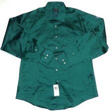 """New Arrow Mens Fitted Sateen Spread Collar Dress Shirt XL 17"""" 34/35"""" Long Sleeve"""