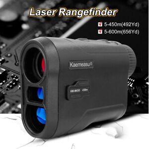 6X 650yds Telescope Laser Range Finder Rangefinder Distance Height Speed Meter