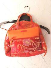 Celebrity Brand Set of 3 Makeup Travel Bag Set Red Orange Asian Print