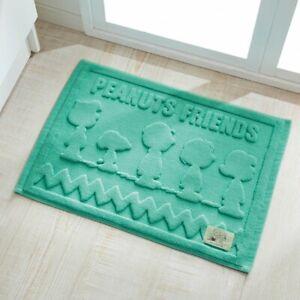 PEANUTS SNOOPY Cotton Towel Bath Mat Floor Room Mini Rug Bathmat Japan E7307