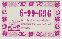 Unused Postcard Comic Mutoscope Lucky Number Card Player Pinochle of success