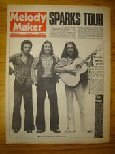MELODY MAKER 1974 AUG 31 SPLINTER HARRISON SPARKS ROXY